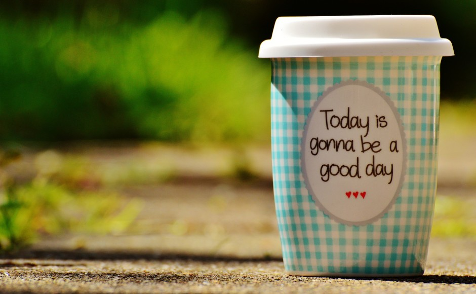 positive affirmation coffee cup