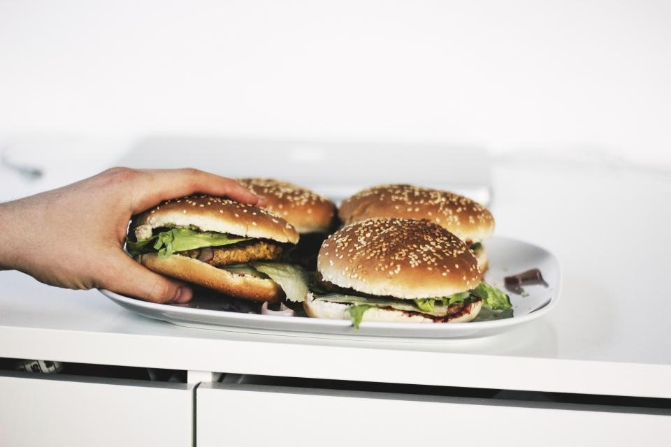food addiction, over eating hamburgers