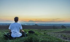 sitting in nature, tips to combat stress