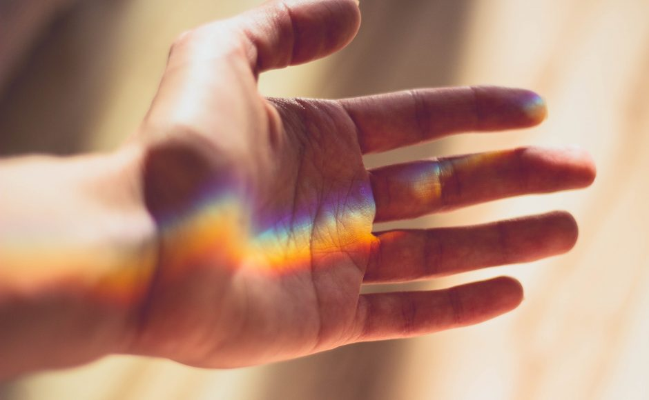 supporting LGBT children, pic of rainbow on hand