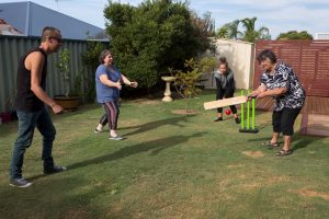 coping at xmas, backyard cricket