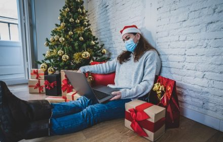 coping at christmas, sad woman by xmas tree